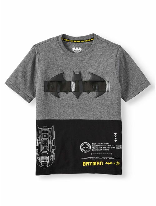 DC Comics Batman Short Sleeve Graphic Split T-Shirt (Little Boys & Big Boys)