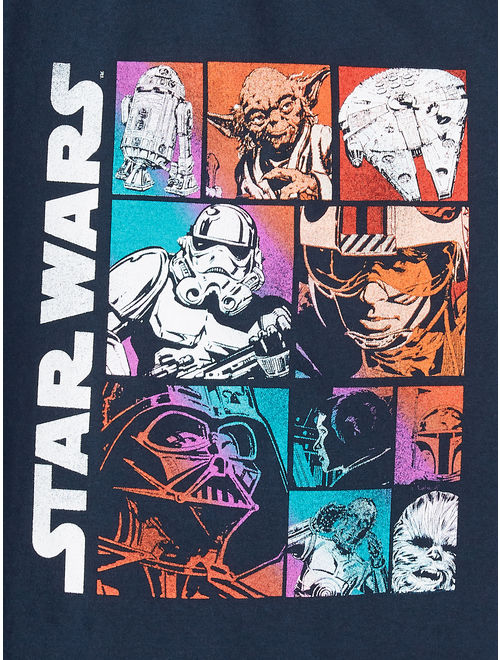 "Star Wars ""Character Grid"" Short Sleeve Licensed Tee (Little Boys & Big Boys)"