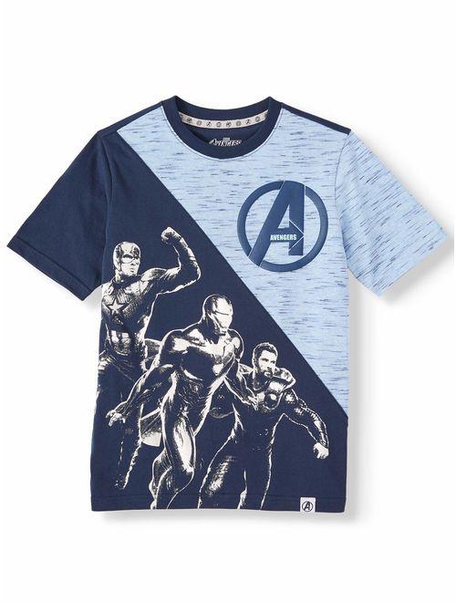 Marvel The Avengers Short Sleeve Graphic Split T-Shirt (Little Boys, Big Boys & Husky)