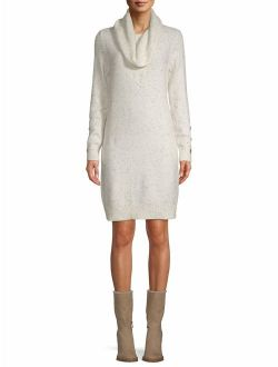 Cowl Neck Dress With Button Detail Women's