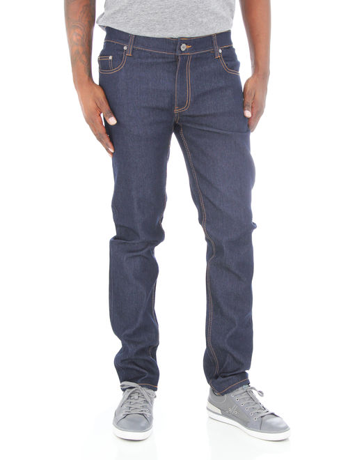 Kayden K Men's Skinny Stretch Raw Denim Jean