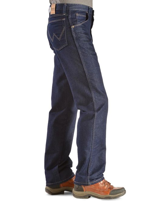 Wrangler NEW Blue Mens Size 40X34 Rugged Wear Regular-Fit Stretch Jean