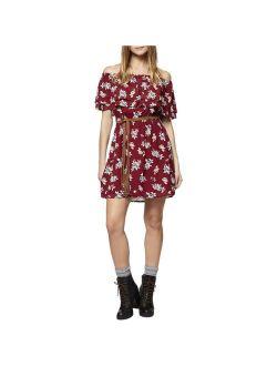Sanctuary Womens Skylar Floral Print Off-The-Shoulder Party Dress