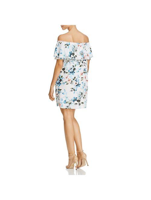 Sanctuary Womens Stella Floral Popover Casual Dress