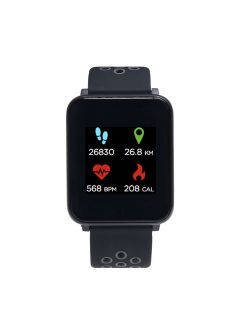 iTech Fusion Smartwatch Black/Gray Perforated