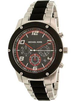 Men's Caine MK8474 Black Stainless-Steel Quartz Dress Watch