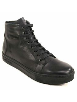 BALDININI Italian Shoes Men Black Shoes Leather and Suede Winter. Mens Casual Shoes
