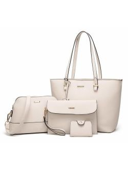 Elim & Paul Fashion Handbags Tote Bag Shoulder Bag Top Handle Satchel Purse Set 4pcs for women