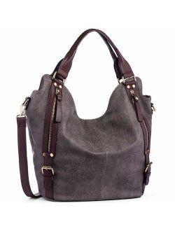 JOYSON Women Handbags Hobo Shoulder Bags Tote PU Leather Handbags Fashion Large Capacity Bags