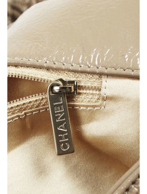 """Chanel Patent Leather """"Rock and Chain"""" Shoulder Bag"""