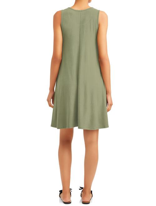Time and Tru Women's Sleeveless Knit Dress