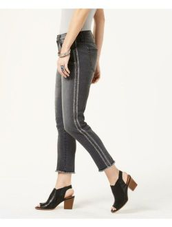 Style & Co. 5548 Size 12 Womens NEW Washed Black Ankle Jeans Striped Glitter $59