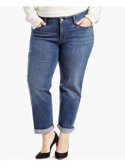 Levi's Levi Strauss 8200 Plus Size 18W NEW Blue Boyfriend Jeans Tapered-Leg $59