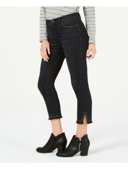 Style & Co. 0848 Size 10 Womens NEW Black Ankle Jeans Studded Frayed $64