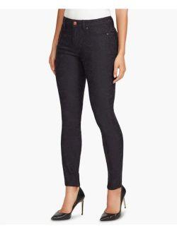 Vintage America 4131 Petites Size 8P NEW Black Skinny-Leg Jeans 5-Pockets $69