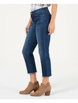 Style & Co. 5314 Size 6 NEW Dark Blue Cropped Jeans 5-Pockets Mid-Rise $49