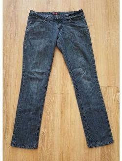 21 Juniors Size 28 Skinny Jeans Medium Wash Blue Stretch Slim Straight
