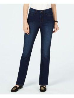 Charter Club 5517 Size 4 Womens NEW Dark Blue Straight Leg Jeans 5-Pockets $59