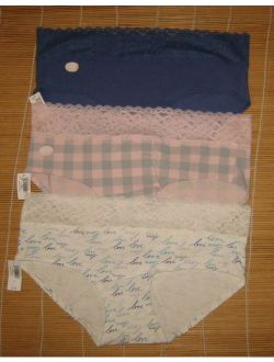 Ap Body Love By Gap Cotton Panties Hipster Lace Waistband Size Large