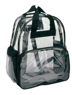 Clear Backpack Book Bag Transparent School Sports Stadium Concert Arena TSA Security Shoulder Travel 3 Pockets