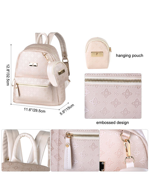 Girls Backpack-Fitbest Girls 2 in 1 Cute Leather Backpack Shoulder Bag Backpack Purse School Backpacks for Women