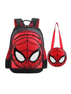 Spiderman Backpack for boys Halloween Gift Waterproof Comic School Bag with Shoulder Bag