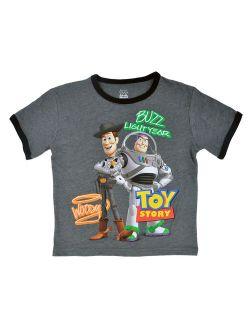 Toy Story Ringer T-shirt Short Sleeve Woody Buzz Lightyear (big Boys)