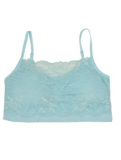 Sofra Juniors Blue Lace Covered Adjustable Straps Free Size Cami Bralette
