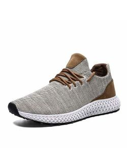 Mevlzz Mens Running Shoes Fashion Sneakers Breathable Mesh Soft Sole Casual Athletic Ultra Lightweight Walking Shoes