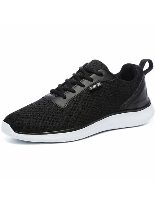 GESIMEI Men's Breathable Mesh Tennis Shoes Comfortable Gym Sneakers Lightweight Athletic Running Shoes