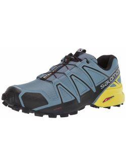 Men's Speedcross 4 Trail Running Shoes, Bluestone/black/sulphur Spring, 12.5