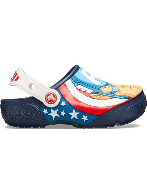 Crocs Boys' Junior Fun Lab Captain America Clog