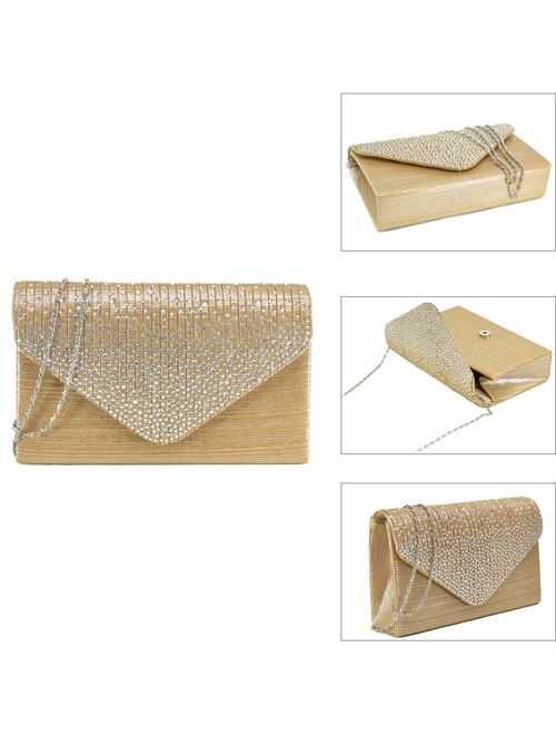 Women Evening Envelope Handbag Party Prom Clutch Purse Shoulder Cross Body Bag