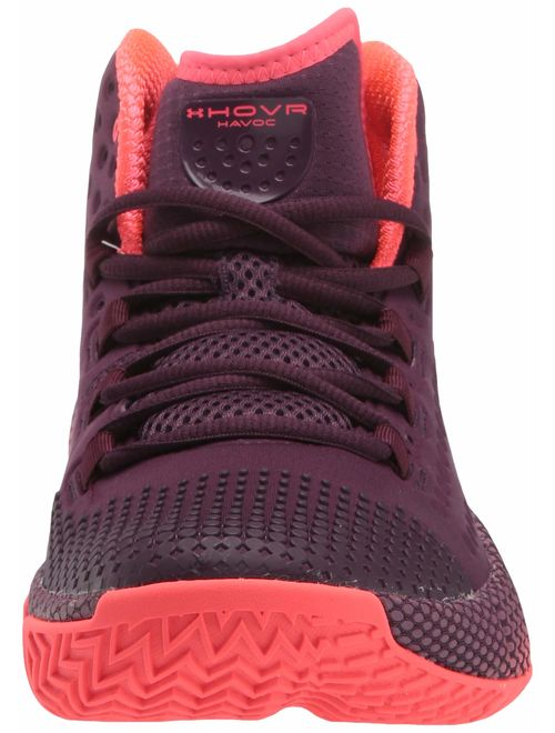 Under Armour Men's HOVR Havoc 2 Basketball Shoe, Kinetic Purple//beta red, 7.5