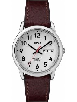 Easy Reader Day-date Leather Strap Watch