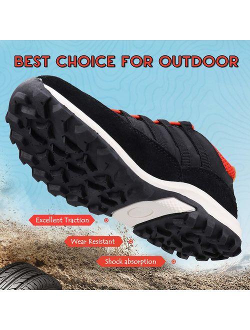 UOVO Boys Shoes Boys Tennis Running Sneakers Waterproof Hiking Shoes Kids Athletic Outdoor Sneakers Slip Resistant(Little/Big Boys)
