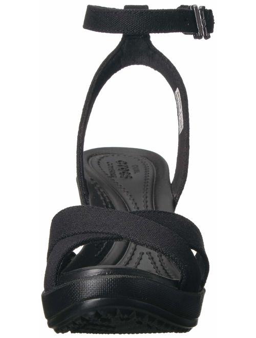 Crocs Women's Leigh II Adjustable Ankle Strap Wedge Comfort Sandal
