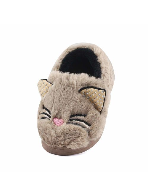 MK MATT KEELY Toddler Girls Bunny Slippers Winter Warm Shoes Cat/Doggy House Soft Slippers
