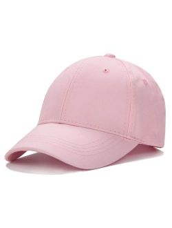 Edoneery Unisex Toddler Kids Plain Cotton Adjustable Low Profile Baseball Cap Hat(A1009)