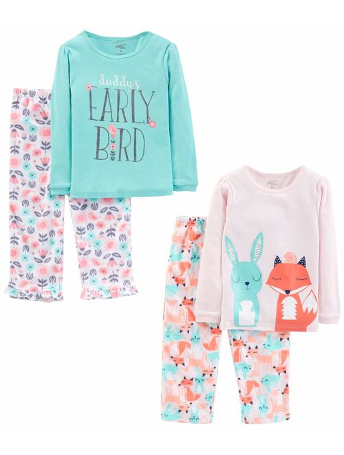 Simple Joys by Carter's Little Kid and Toddler Girls Pajama Set