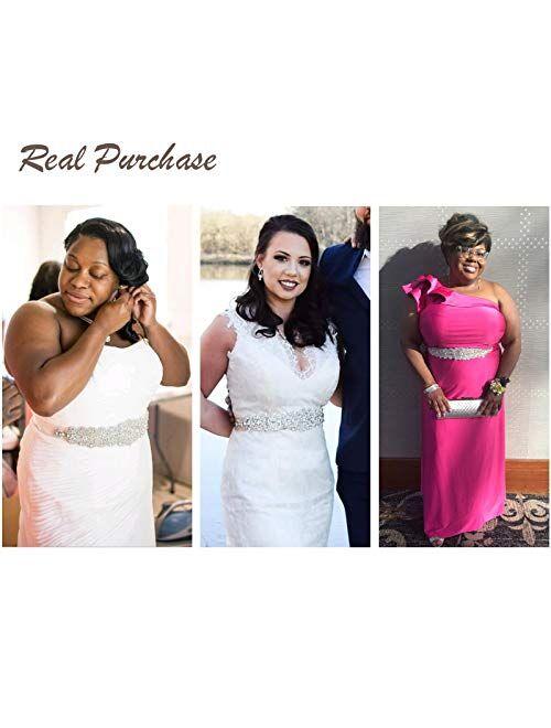 Remedios Rhinestone Bridal Belt Crystal Wedding Belt Bridesmaid Sash Women Dress Accessories