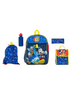 Mickey Mouse 5 Pc Set Backpack
