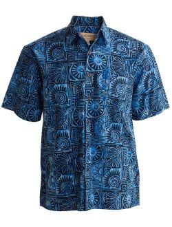 West Antigua Summer Tropical Hawaiian Batik Shirt