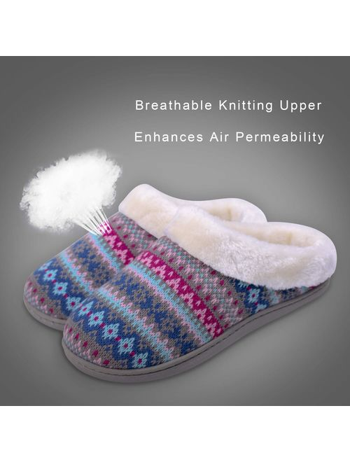 Winter Outdoor Indoor House Slippers Men and Women Cozy Woolen Knitted Plush Lining Home Shoes
