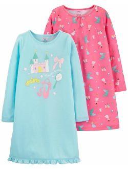 Carter's Girls' 2 Pk Gown Poly 373g082