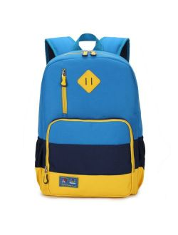 MIFULGOO Kids Waterproof Backpack for Elementary or Middle School Boys and Girls