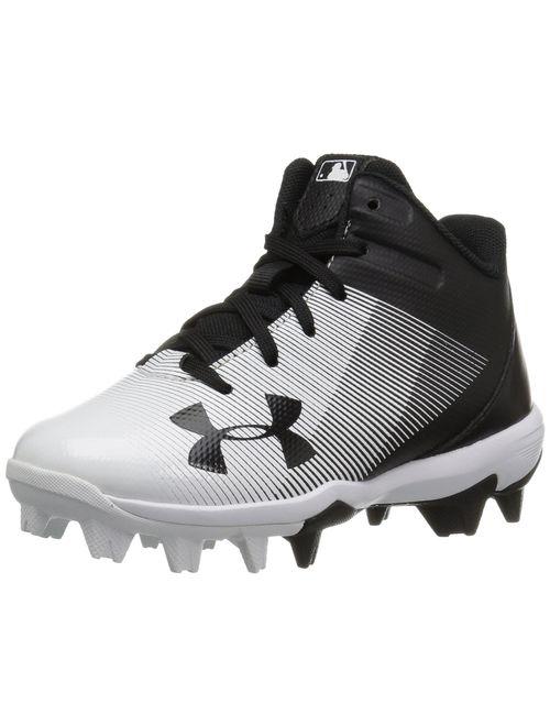 Under Armour Kids' Leadoff Mid Jr. Rm Baseball Shoe