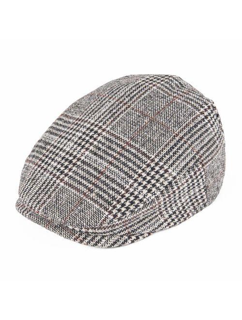 JANGOUL Kids Wool Tweed Flat Cap Herringbone Boy Girl Newsboy Caps Infant Toddler Child Youth Beret Hat Ivy Gatsby Cap