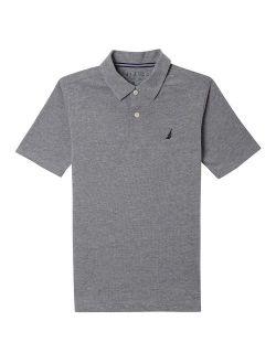 Boys' Short Sleeve Solid Deck Polo Shirt