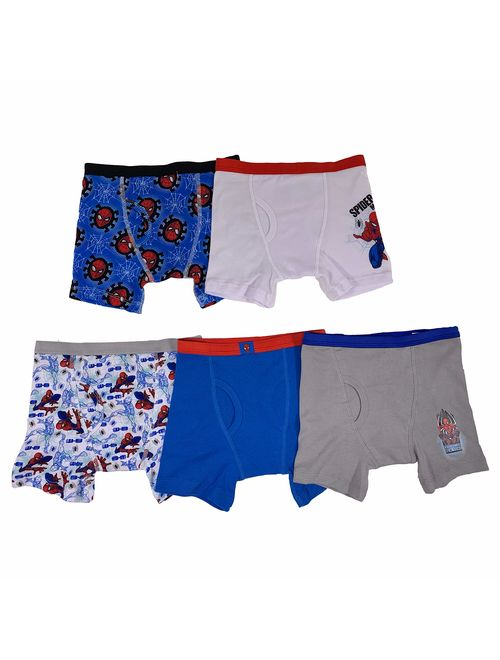 6 Assorted Marvel Little Boys Spiderman 5 Pack Brief